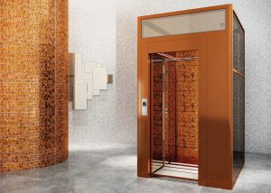 Design Elevator DomusLift Liberty with handcrafted tiles